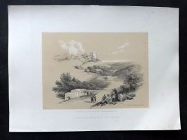 David Roberts Holy Land 4to 1856 Print. Ruins of The Church of St. John, Sebaste